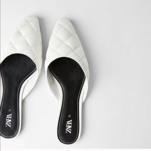 COPY - COPY - Zara NWT Quilted flats white